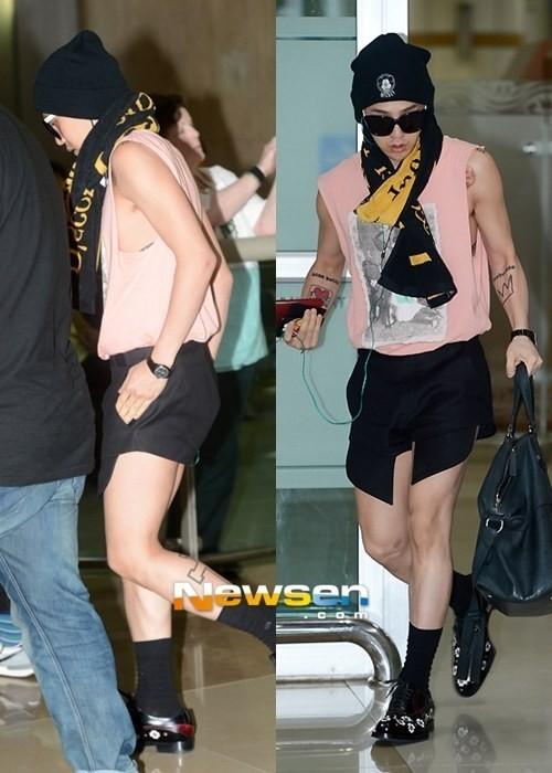 <p> G-Dragon Big Bang luôn được biết đến với xì tai ăn mặc phá cách, độc đáo. Nhưng độc đến mức này thì khiến nhiều người cũng phải lắc đầu. Khán giả đã không ít người thắc mắc G-Dragon nghĩ gì khi mặc chiếc quần cứ như thể là quần dài cắt ngắn 2/3 vậy.</p>