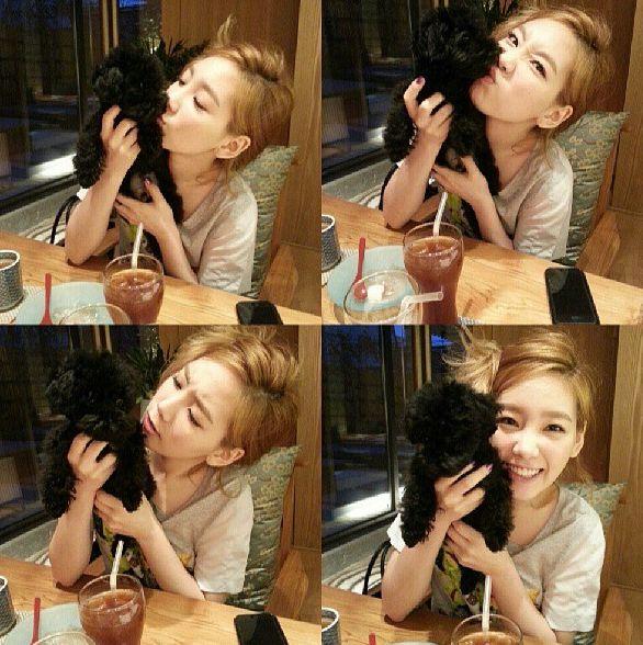 <p> Tae Yeon SNSD và mèo Ginger.</p>