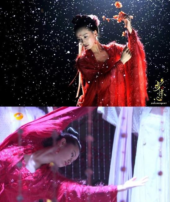 <p> <em>Bộ bộ kinh tâm</em>: Lưu Thi Thi và Quách Hiểu Đình lần lượt xuất hiện với một bộ y phục múa.</p>