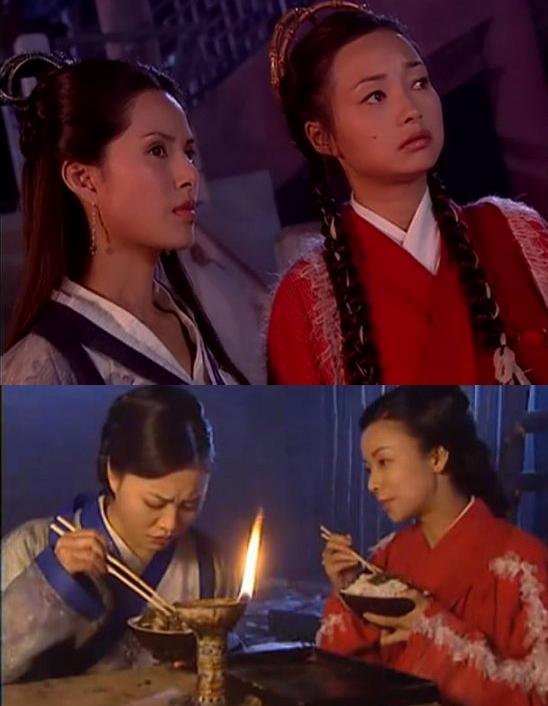 <p> <em>Dương môn nữ tướng</em>: Dương bát muội, Dương Bài Phong, Dương tam nương, La Thị Nữ đổi y phục cho nhau.</p>