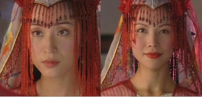 <p> <em>Thủy nguyệt động thiên</em>: Trần Pháp Dung và Thái Thiếu Phân thay phiên nhau diện một kiểu áo cưới.</p>