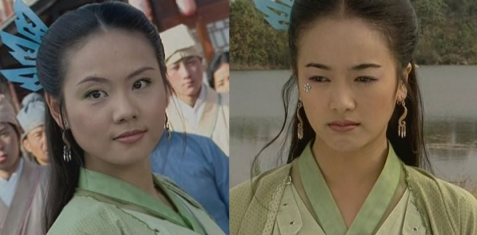 <p> <em>Danh bổ chấn quan đông</em>: Trần Oánh và Tả Tiểu Thanh không chỉ mặc chung áo mà ngay cả cách làm tóc, trang sức cũng y xì.</p>