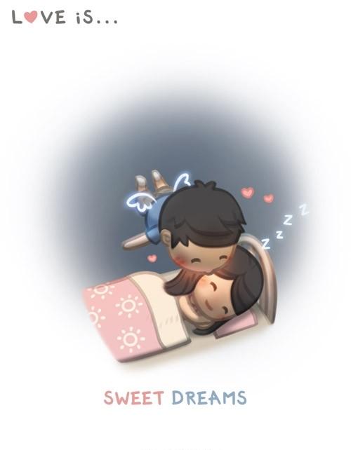 <p> Tình yêu là những giấc mơ ngọt ngào.</p>