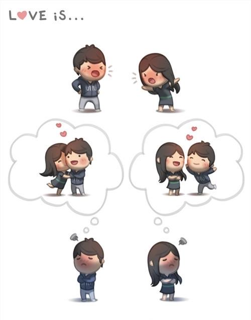 <p> Tình yêu không thể thiếu những lần cãi vã, giận hờn.</p>