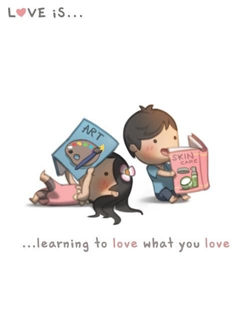 <p> Tình yêu là lúc đối phương tìm hiểu về những sở thích của nhau.</p>
