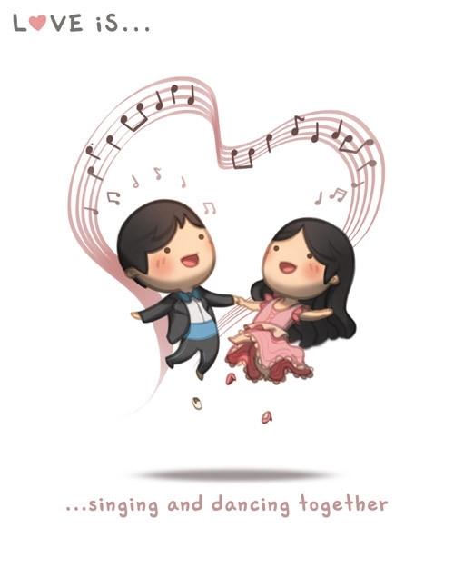 <p> Tình yêu là khi được nắm tay nhau ca hát, nhảy múa vui vẻ.</p>