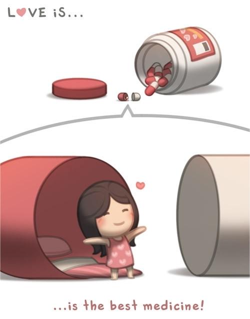 <p> Tình yêu là liều thuốc tốt nhất...</p>