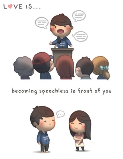 <p> Anh chàng có thể hùng hồn nói trước đám đông nhưng lại trở nên thẹn thùng không thốt nên lời trước bạn.</p>
