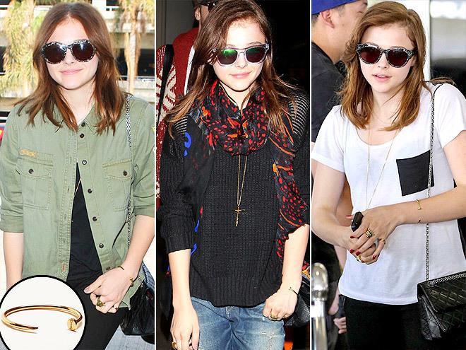 <p> Sau Miranda Kerr, Kristen Stewart, đến Chloe Moretz là fan của chiếc vòng đinh uốn hiệu Cartier.</p>