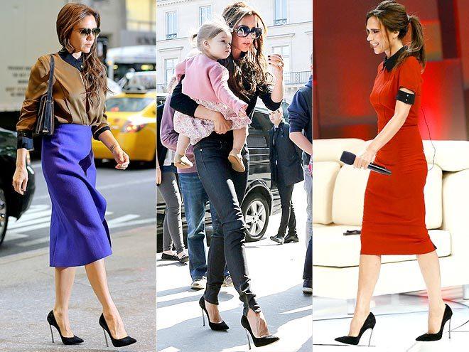 <p> Với những quý cô chuộng sự tối giản và phong cách cổ điển như Victoria Beckham, đôi cao gót mũi nhọn mảnh dẻ như thế này luôn là lựa chọn hoàn hảo.</p>