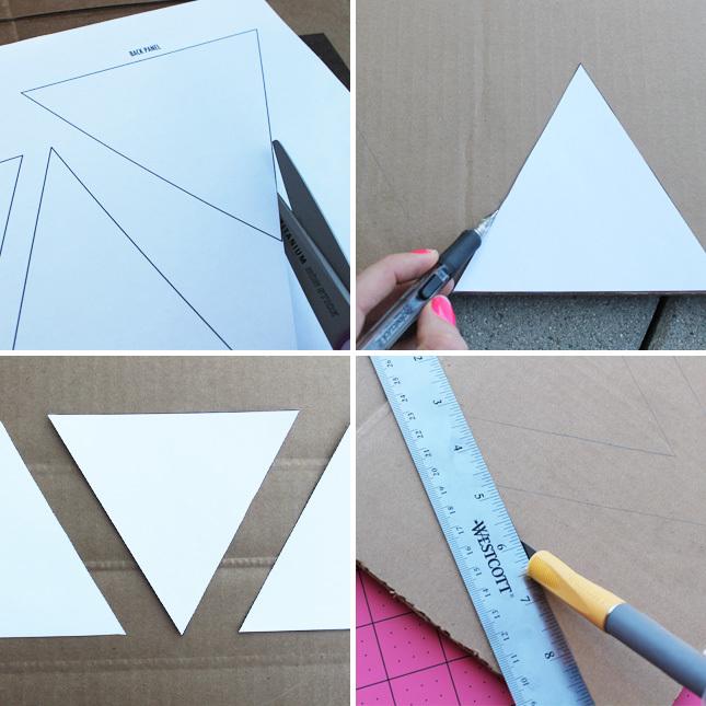"""<p style=""""text-align:center;""""> <strong>Bước 2:</strong></p> <p style=""""text-align:center;""""> Cắt rời từng hình rồi đặt chúng lên bìa làm mẫu vẽ theo, cắt rời.</p>"""