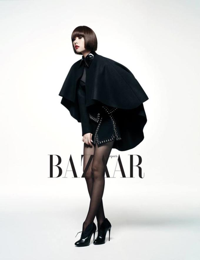 <p> Jo Yoon Hee đen lạnh lùng.</p>