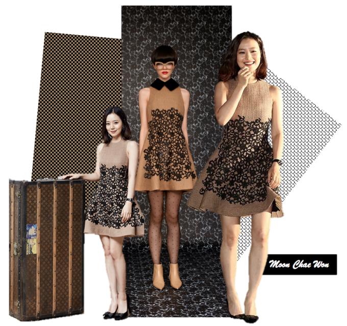 <p> Moon Chae Won diện lại chiếc váy nữ tính của Louis Vuitton trong 2 sự kiện khác nhau.</p>
