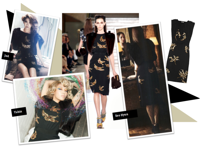 <p> Bạn thấy JeA, Yubin hay Seo Hyun gợi cảm hơn với chiếc váy họa tiết này?</p>