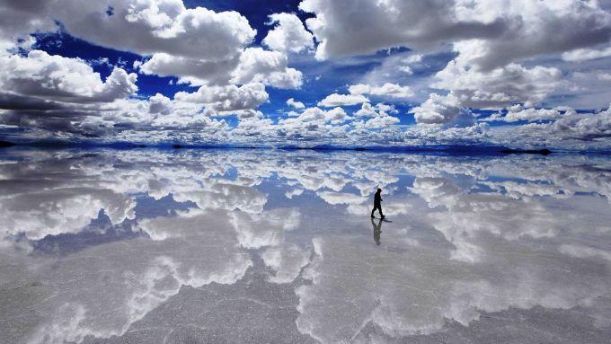 """<p class=""""Normal""""> 11. Salar de Uyuni, hay Salar de Tunupa, là tên của cánh đồng muối lớn nhất thế giới nằm tại Bolivia.</p>"""