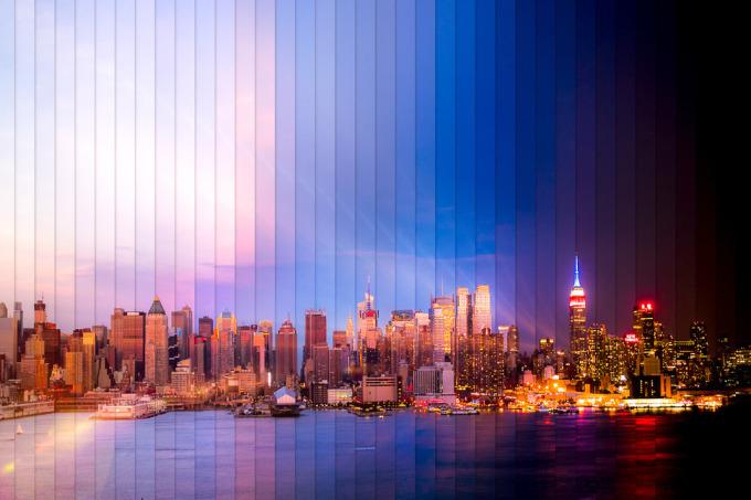 <p> Thành phố New York với 38 bức ảnh thể hiện sự thay đổi trong 2 tiếng 3 phút.</p>