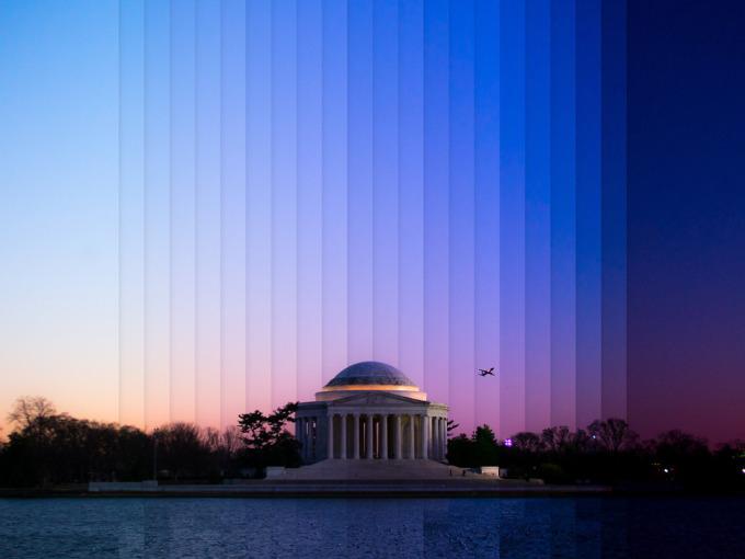 <p> Đài tưởng niệm Jefferson, Washington, DC.</p>