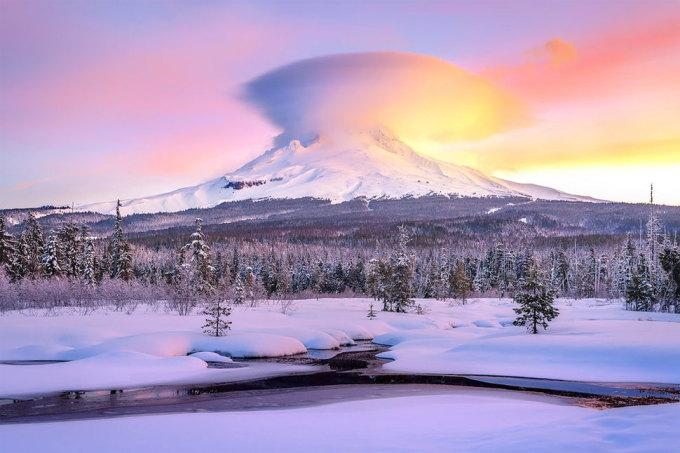 <p> Cảnh mùa đông tuyệt đẹp ở Oregon. Ảnh: <em>Jarrod Castaing</em></p>