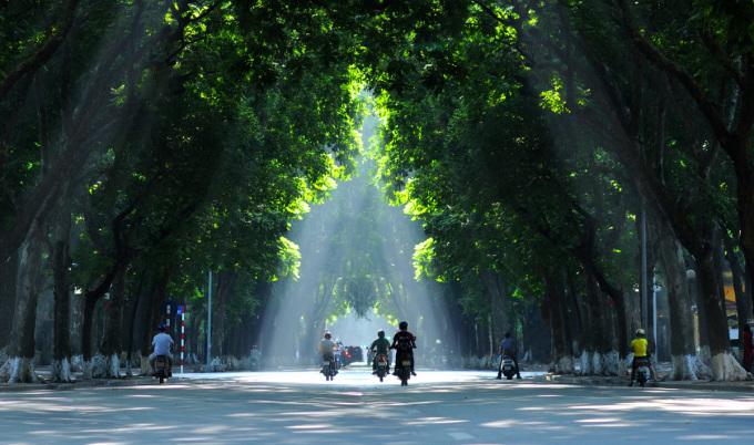 """<p class=""""Normal""""> Dài khoảng 1,5 km, đường Phan Đình Phùng kéo dài từ phố Mai Xuân Thưởng đến phố Hàng Cót. Phố cắt ngang các đường phố như: Hoàng Diệu, Đặng Dung, Nguyễn Tri Phương, Hàng Bún.</p>"""