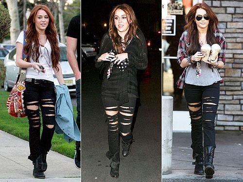 """<p style=""""text-align:center;""""> Miley cũng trẻ trung không kém trong chiếc quần này đấy.</p>"""
