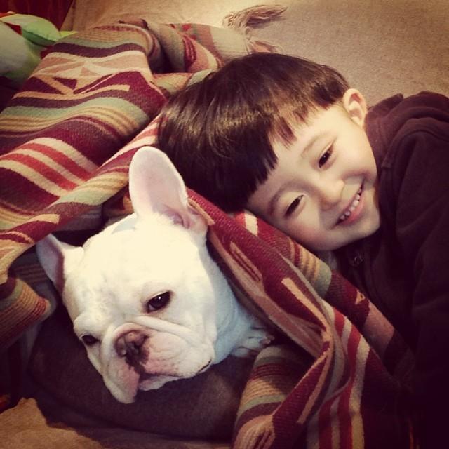 """<p class=""""Normal""""> Cậu bé Tasuku và chú chó Bull đáng yêu tên Muu là cặp đôi <a href=""""https://ione.net/tin-tuc/nhip-song/phat-cuong-vi-do-kute-cua-nhoc-ti-nhat-ban-va-chu-cho-bull-2431091.html"""">nổi tiếng khắp mạng xã hội</a> với 577.000 người theo dõi trên Instagram và hơn 200.000 fan trên Facebook.</p>"""