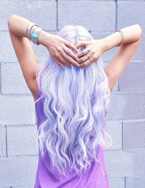 Nhuộm tóc cầu vồng - mốt mới hot nhất thế giới