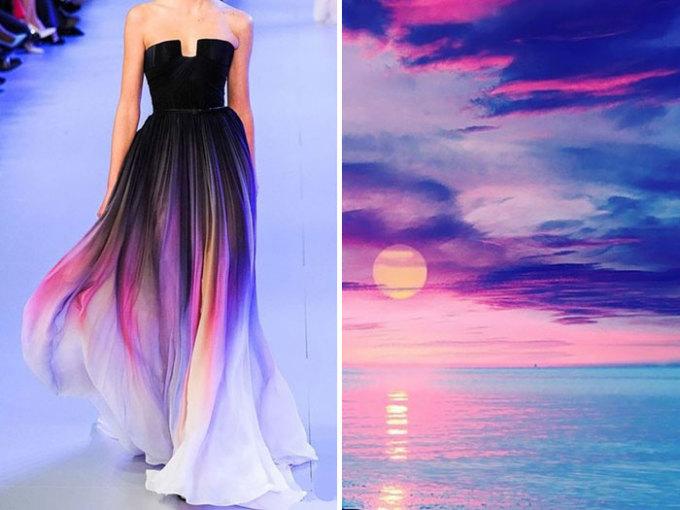 <p> Chiếc váy đẹp mê mẩn nằm trong bộ sưu tập của thương hiệu Elie Saab năm 2014 chắc hẳn được lấy ý tưởng từ ánh hoàng hôn lung linh.</p>