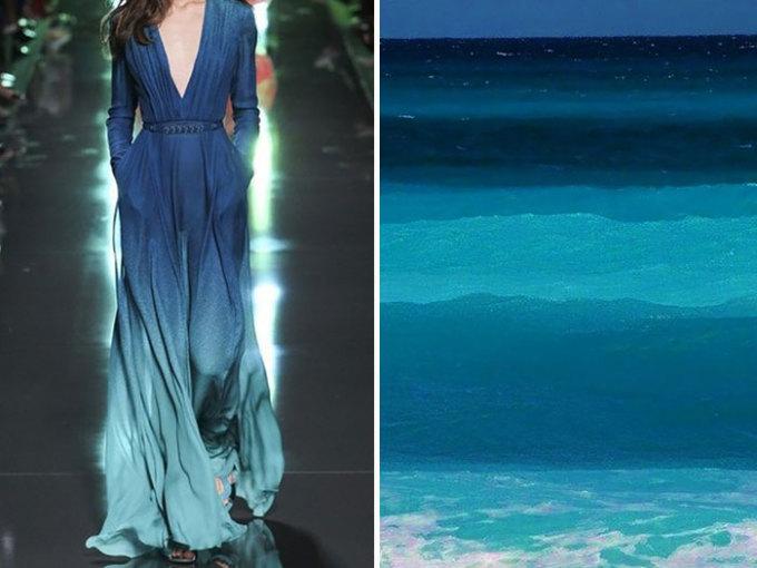 <p> Chiếc váy xanh nền nã sang trọng trong bộ sưu tập xuân hè 2014/2015 của Elie Saabchắc hẳn được lấy ý tưởng từ những làn sóng xanh ngoài biển khơi.</p>