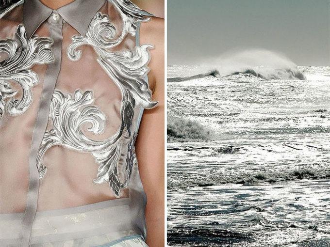 <p> Thiết kế của Aquilano Rimondi mang hình ảnh những con sóng bạc.</p>