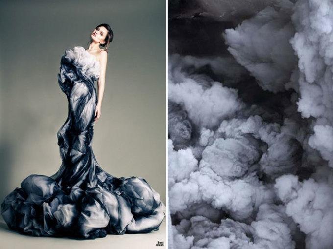 <p> Những đám mây hình dạng vô định trở nên đẹp tuyệt trần trong chiếc váy dạ hội sang chảnh của Jean Louis Sabaji.</p>
