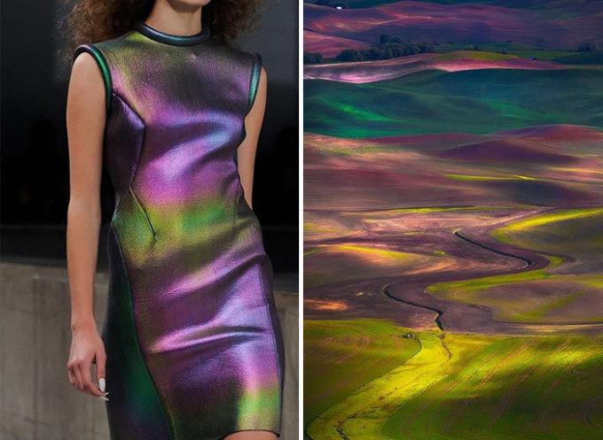 """<p> Những đồng lúa trải dài tít tắp đã """"nhảy vào"""" thiết kế củaGosia Baczynska.</p>"""