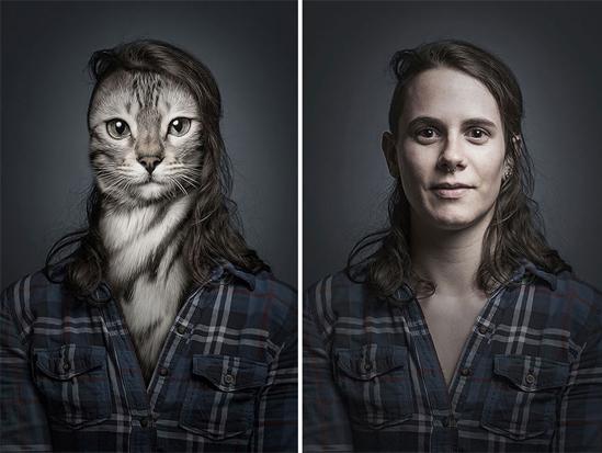 """<p> Anh Sebastian cho hay: """"Sau dự án """"Underdogs"""", tôi muốn tiếp tục tạo ra thêm """"Undercats"""", sáp nhập những con thú cưng với chính chủ sở hữu của chúng. Những chú mèo luôn có đôi mắt to, sáng, cực kỳ lôi cuốn và ám ảnh người xem"""".</p>"""