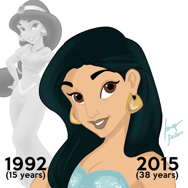 <p> Công chúa Jasmine giờ đã 38 tuổi, trong phim cô ấy chỉ 15 tuổi.</p>