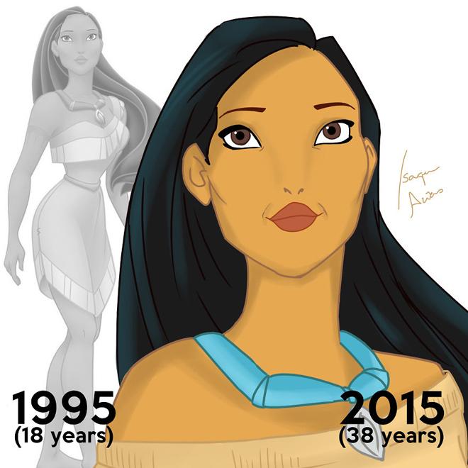 <p> Pocahontas vẫn trẻ trung xinh đẹp dù đã 38 tuổi.</p>