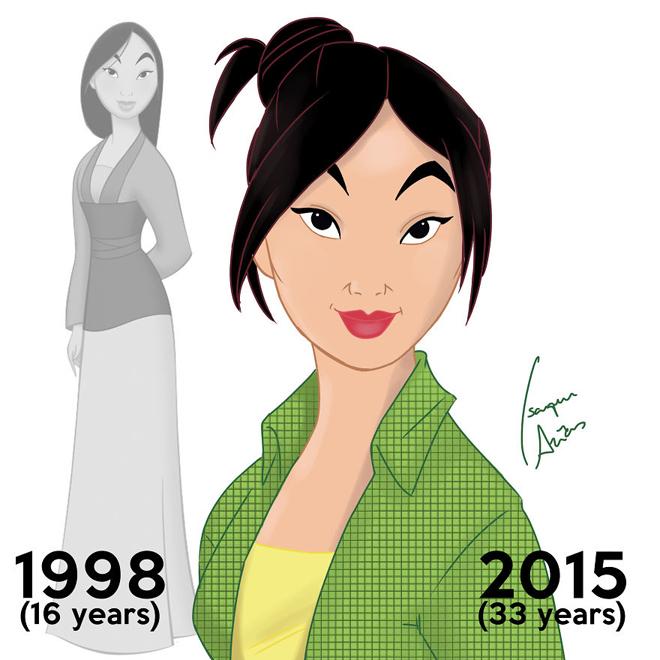 <p> Nàng Mộc Lan là trẻ tuổi nhất, cô mới chỉ 33 tuổi thôi.</p>