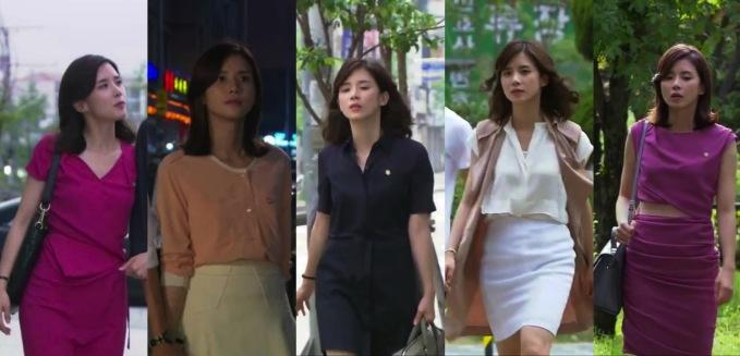 <p> <strong>4.Jang Hye Sung (I Hear Your Voice):</strong> Cô nàng luật sư theo đuổi phong cách trưởng thành hơi hướng công sở. Những kiểu váy liền đơn sắc, chân váy bút chì phối cùng áo sơ mi được Hye Sung yêu thích hơn cả. Tuy cách phối đơn giản nhưng cô vẫn toát lên sự lôi cuốn nhờ vóc dáng thanh mảnh và thần thái tự tin.</p>