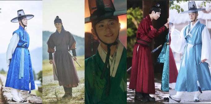 <p> <strong>8. Thế tử Lee Young (Mây họa ánh trăng):</strong> Ai bảo cổ trang thì không được sành điệu, Lee Young đã chứng minh điều ngược lại. Chàng Thế tử sở hữu một bộ sưu tập hàng chục bộ Hanbok được thiết kế tỉ mỉ, kiểu dáng tuyệt đẹp tôn lên khí chất vương giả. Nhà thiết kế trang phục cho <em>Mây họa ánh trăng</em> khẳng định rằng Park Bo Gum là nam diễn viên mặc đồ Hanbok đẹp nhất mà cô từng gặp.</p>