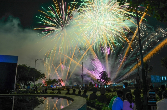 <p> Khung cảnh lung linh trên bầu trời Đà Nẵng tối 3/6.</p>