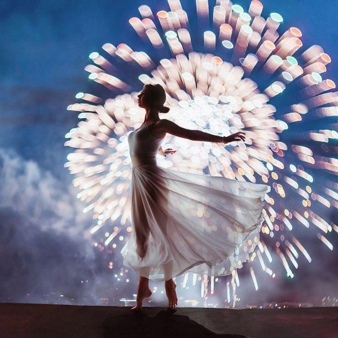 <p> Festival pháo hoa ở Moscow, Nga.</p>