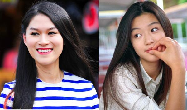 Ngọc Thanh Tâm và Jun Ji Hyun.