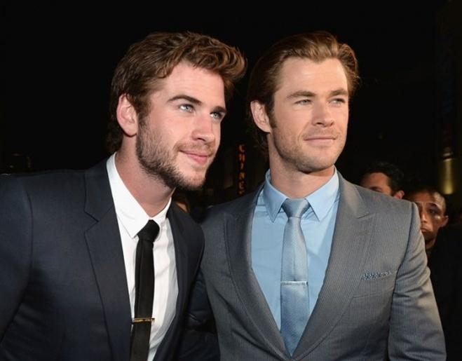 <p> Liam Hemsworth và Chris Hemsworth</p>