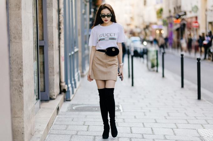 <p> Rời thành phố thời trang Milan trong chuyến công tác vừa qua, Kỳ Duyên tiếp tục sang kinh đô Paris để thực hiện bộ hình cho một tạp chí.</p>