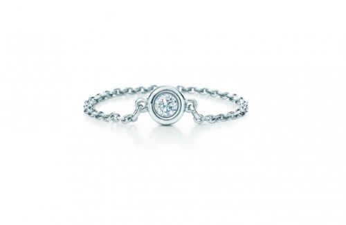 Một chiếc nhẫn kim cương xa xỉ đến từ thương hiệu Tiffany