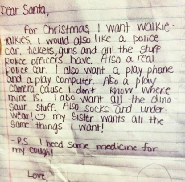 Những lá thư gửi ông già Noel khiến ai cũng cười nghiêng ngả