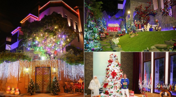 Sao Việt trang hoàng nhà cửa đón Giáng sinh sang chảnh
