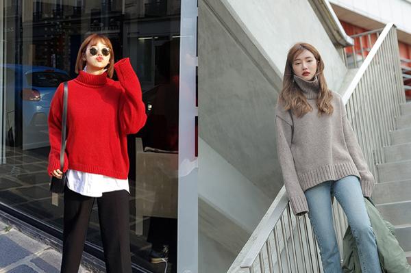 6 kiểu áo len đặc trưng mùa đông của con gái Hàn - 1