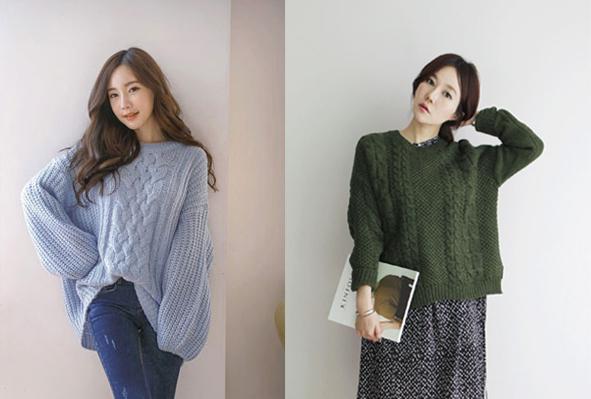 6 kiểu áo len đặc trưng mùa đông của con gái Hàn - 4