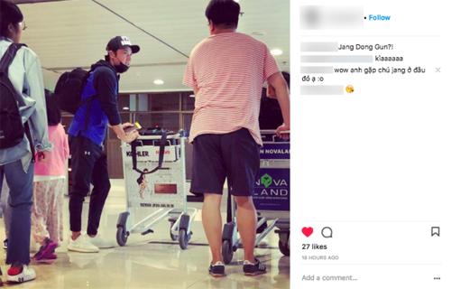 Fan Việt đăng ảnh Jang Dong Gun trên Instagram.