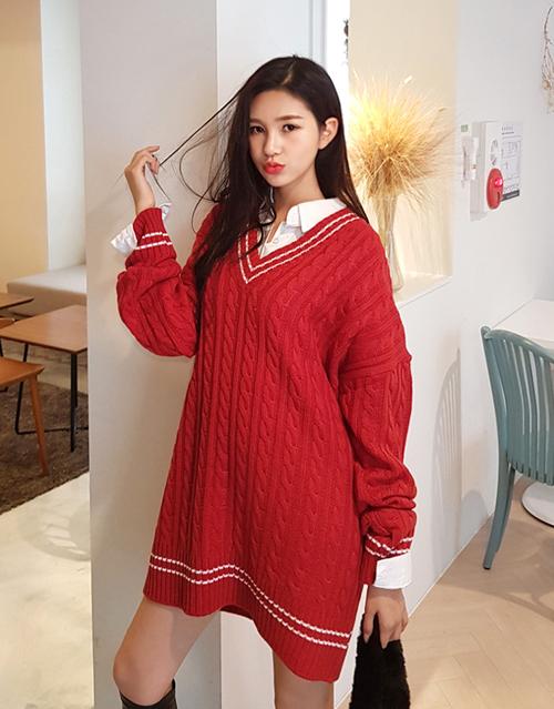 6 kiểu áo len đặc trưng mùa đông của con gái Hàn - 7