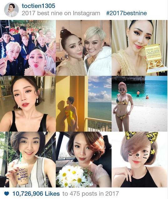 9 khoảnh khắc hot nhất 2017 trên Instagram sao Việt hơn 1 triệu fan - 2